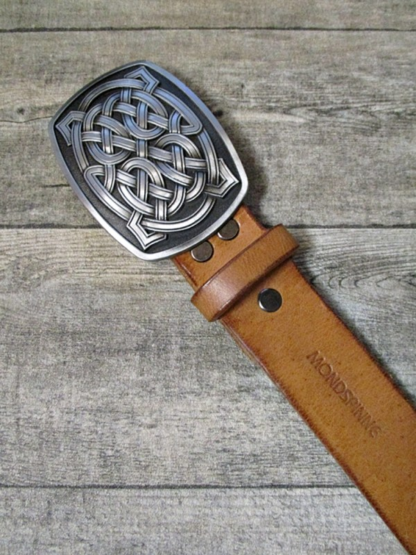 Gürtel Wechselgürtel Ledergürtel hellcognac Rindsleder 38 mm gewachst Größe 95 ohne Schnalle - MONDSPINNE