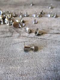 Gürtelschrauben Buchschrauben silber Metall 10x6 mm - MONDSPINNE