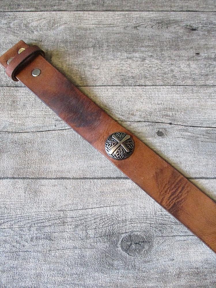 Gürtel Wechselgürtel Ledergürtel cognac used-look Rindsleder 39 mm gewachst Größe 95 - MONDSPINNE