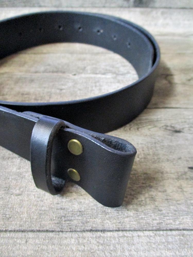 Gürtel Wechselgürtel Ledergürtel schwarz Rindsleder 39 mm gewachst Größe 100 - MONDSPINNE