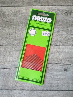 Nähnadeln Nadeln NEWO Set 25 Stück verschiedene Größen - MONDSPINNE