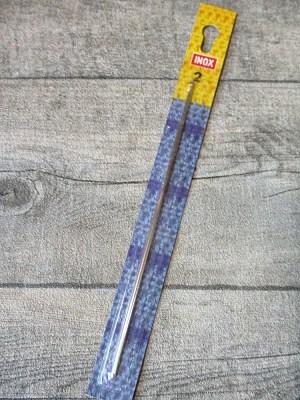 Häkelnadel INOX Prym 2,0 silber Metall - MONDSPINNE