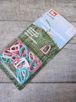 Maschenmarkierer Prym Kunststoff Set rosa weiß mint - MONDSPINNE