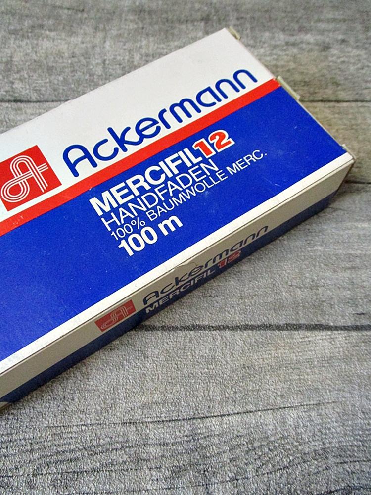 Garn Handnähgarn Handfaden Baumwollgarn schwarz Baumwolle Stärke 12 Ackermann - MONDSPINNE