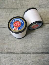 Garn Handnähgarn Handfaden Baumwollgarn weiß Baumwolle Stärke 12 Ackermann - MONDSPINNE