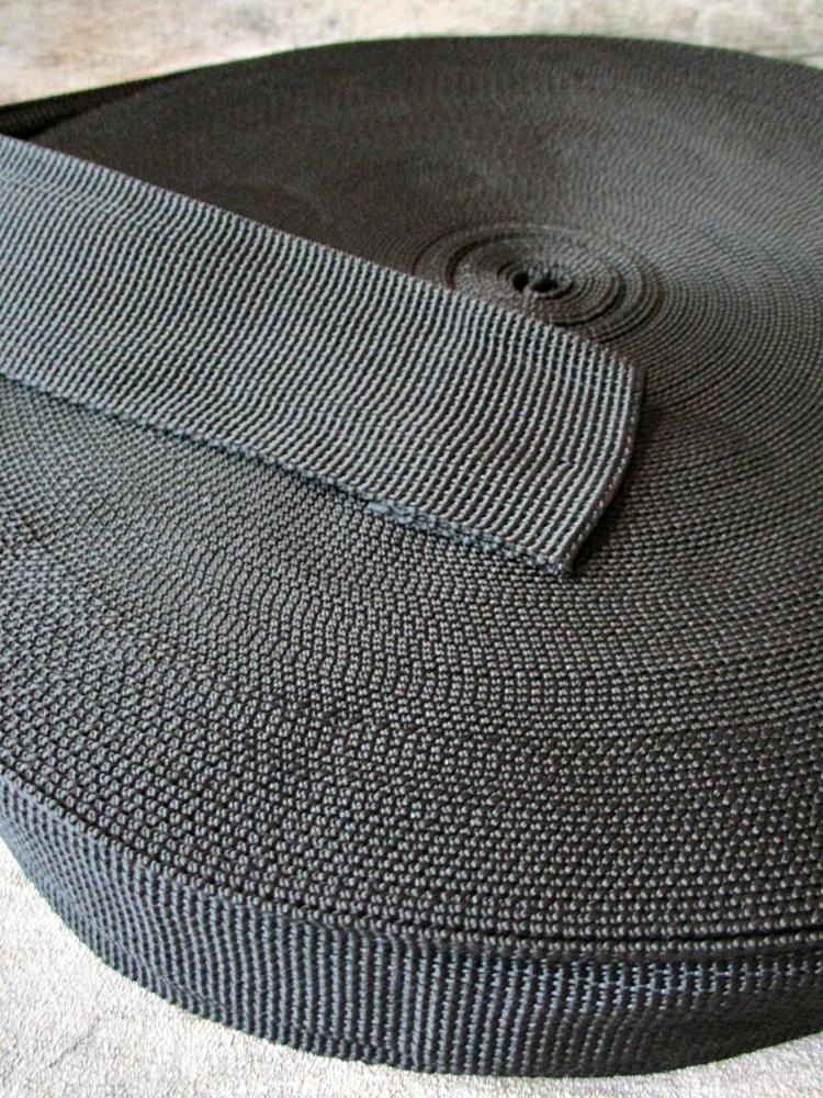 Gurtband Webband 50 mm Polypropylen schwarz - MONDSPINNE