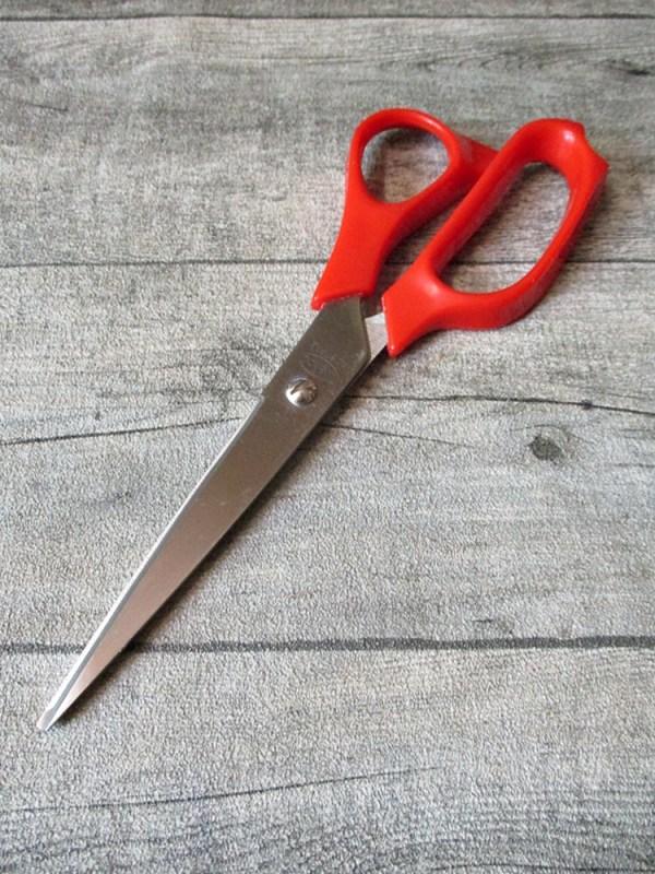 Schere Schneiderschere, Stoffschere Universalschere Papierschere rot Kunststoff Metall 21 cm - MONDSPINNE