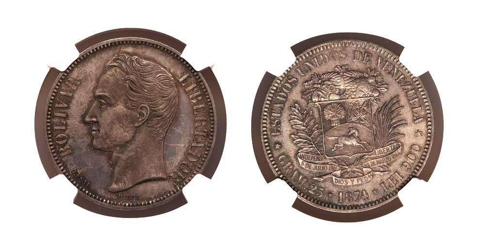 El Ensayo del Venezolano de 1874, la moneda más cara de Venezuela