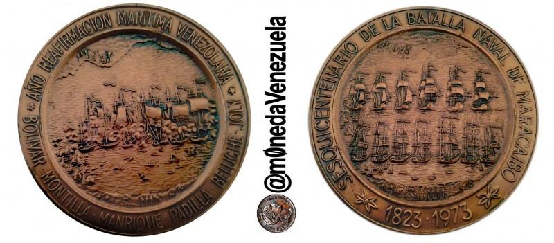 Medalla  Conmemorativa del Sesquicentenario de la Batalla naval del Lago de Maracaibo