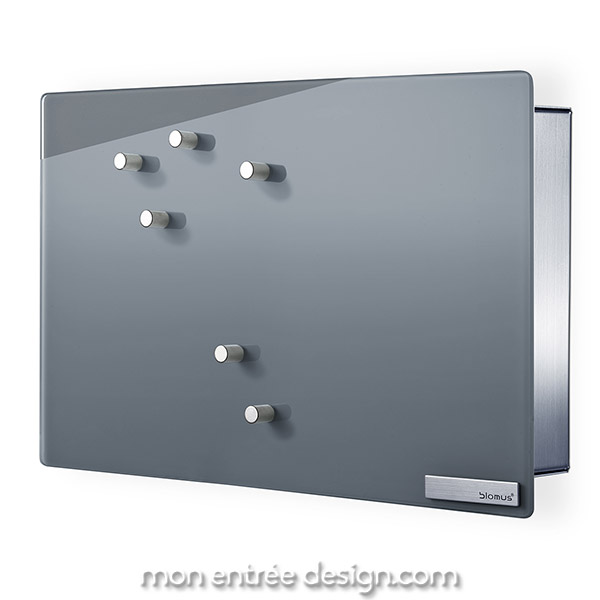 Boite A Cles Design Velio Inox Porte Verre Gris Aimantee De Blomus