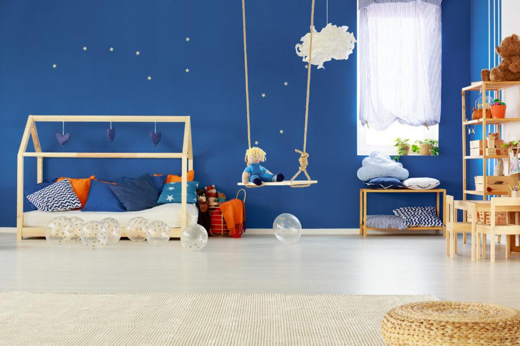 chambre d enfant bleue
