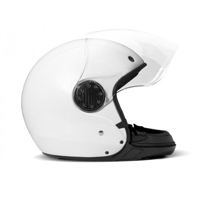 dmd asr pearl white casque moto modulable