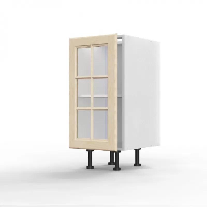 mon espace maison meuble bas cuisine pin massif brut largeur 40cm