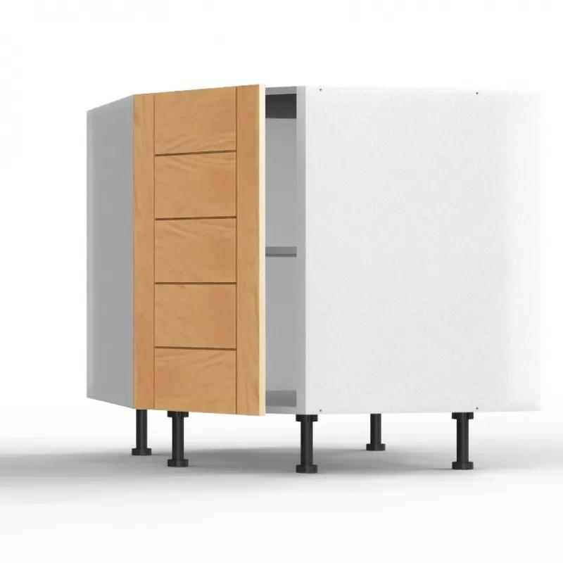 mon espace maison meuble bas angle cuisine chene massif verni largeur 40cm