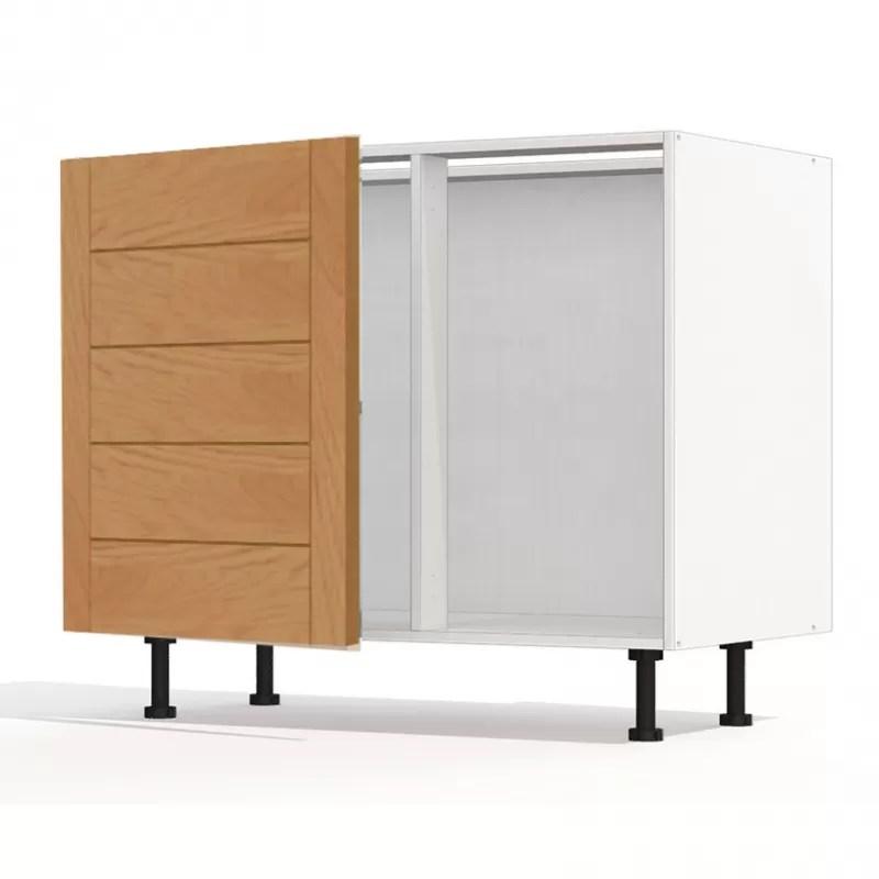 mon espace maison meuble bas angle cuisine chene massif verni largeur 100cm