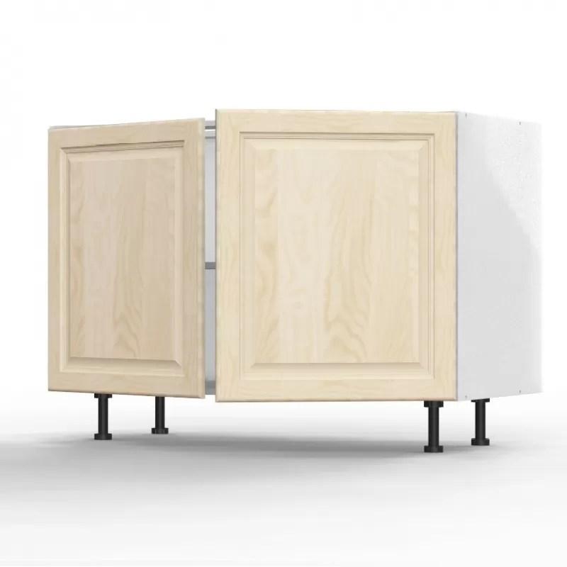 mon espace maison meuble bas cuisine sous evier pin massif brut largeur 120cm