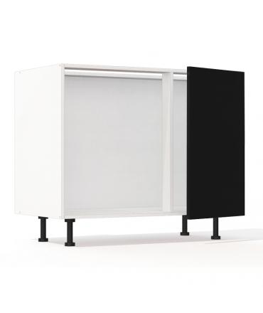 mon espace maison meuble bas cuisine sous evier noir brillant largeur 100cm