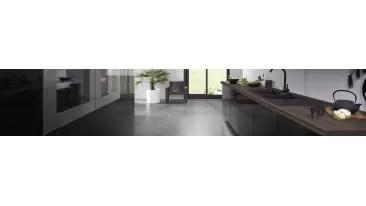 meubles de cuisine laque noir brillant