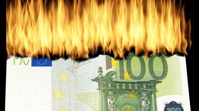 Geld in Flammen