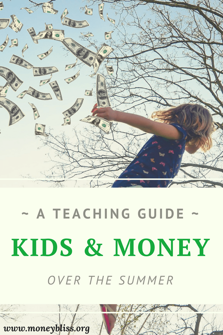 How to teach kids about money over the summer. Money management activities. Ideas to teach children about money. Tips for kids and parents.