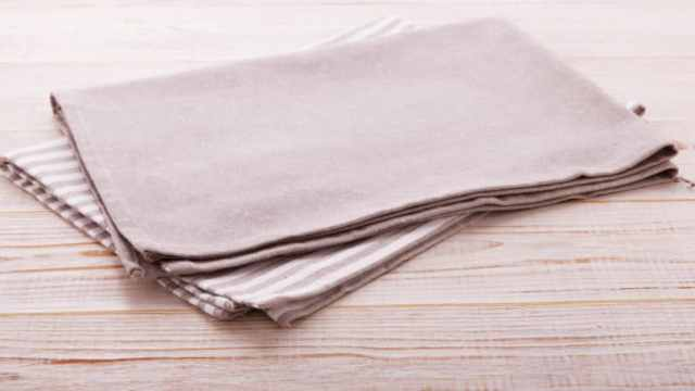 Cloth Napkins On Table Neutral Colors