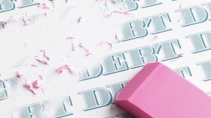 Erase Debt Pink Eraser