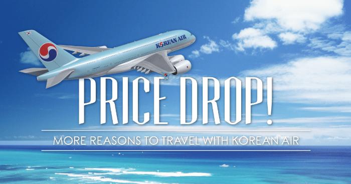 Korean Air Price Drop
