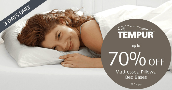then this might be just the sale for you danish luxury bedding brand tempur is holding a warehouse sale on a wide range of mattresses