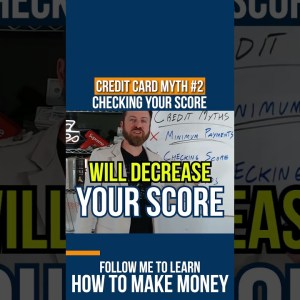 Credit Card Myths: Checking your score #shorts