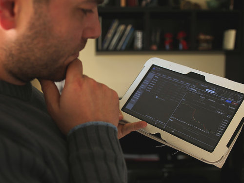 Forex trading on a tablet PC
