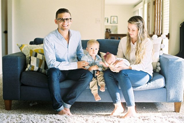 Kory and Mallory Stevens, along with two future partners.