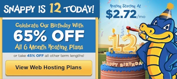 65% OFF Hostgator Hosting