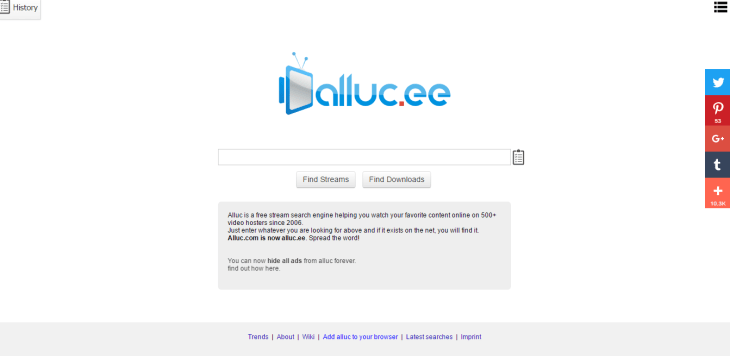 Alluc free movie streaming site