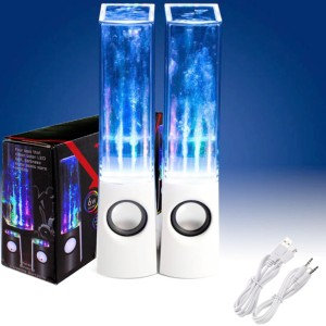 Water Fountain Dancing Music Light Portable Audio LED Speakers