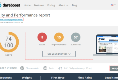 Web Performance Report Dareboost review