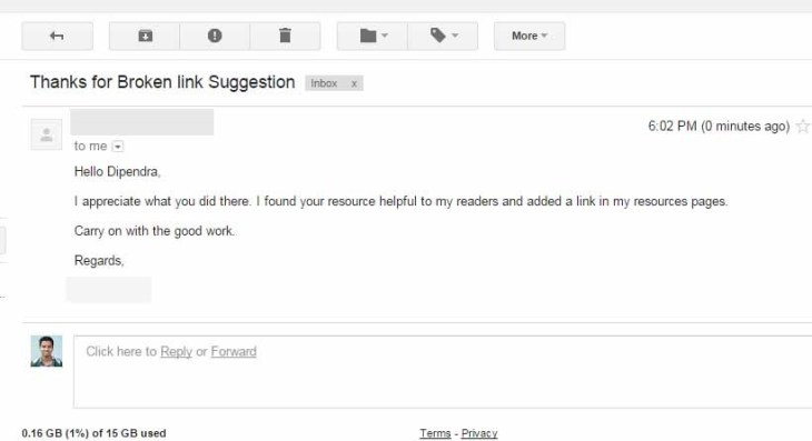 Email Outreach Campaign reply