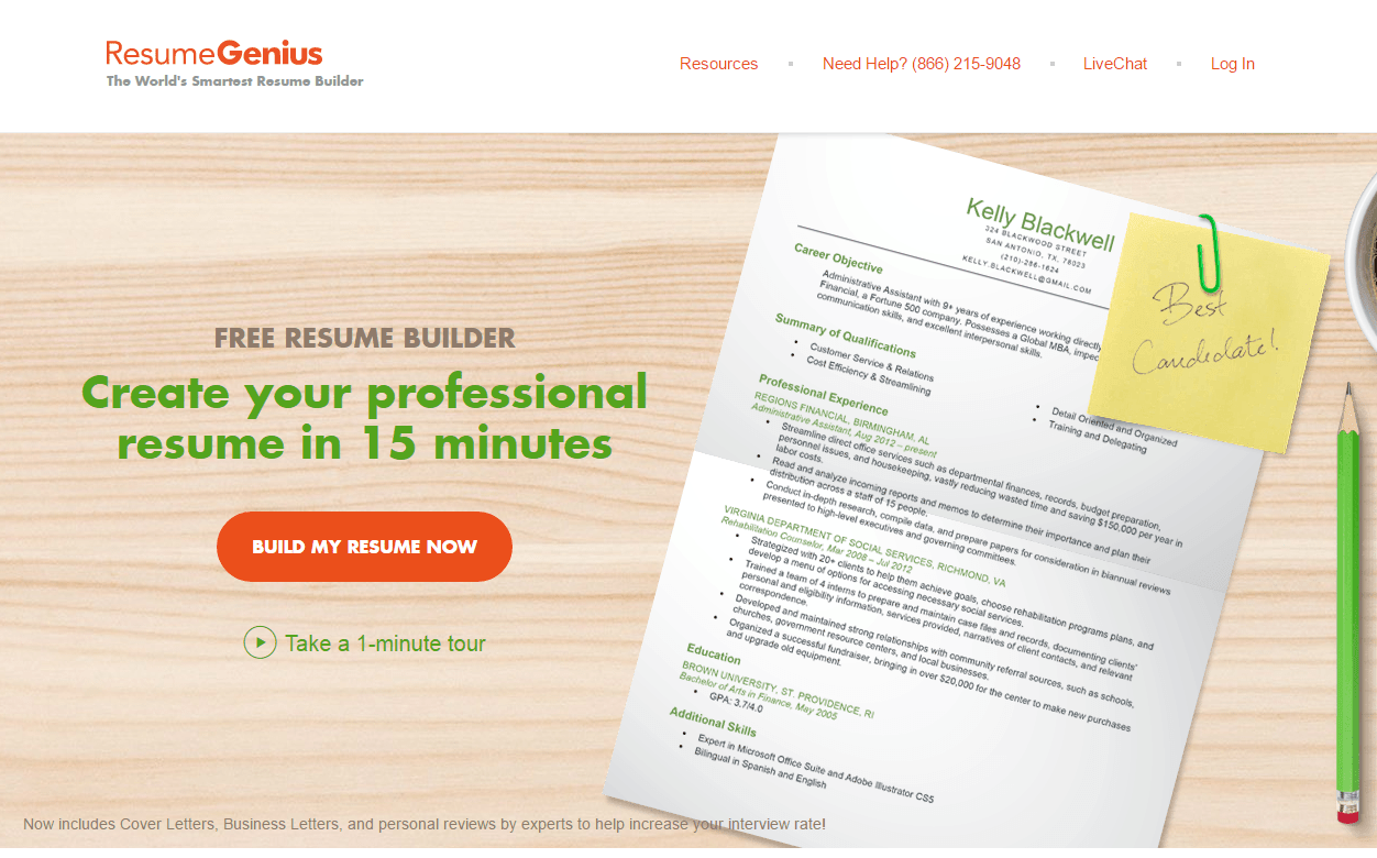 ResumeGenius Review  Resume Writing Service Provider