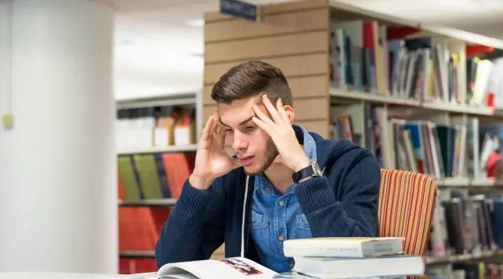 Sad College Student