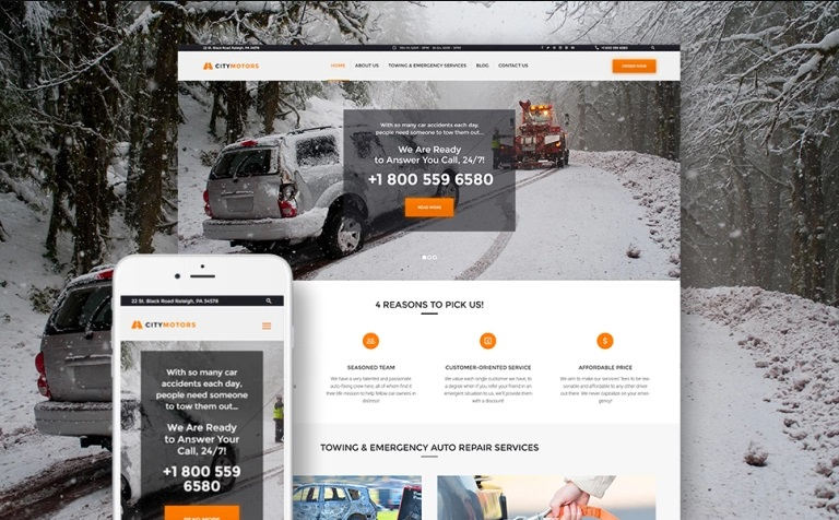 Citymotors Car WordPress Theme