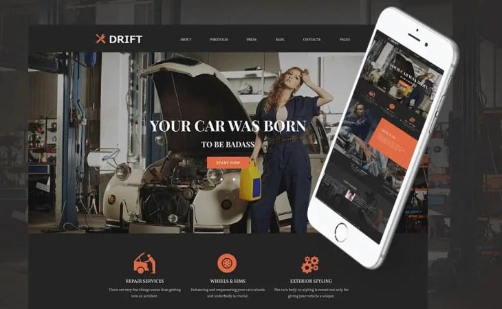 Drift Car Service WordPress Theme
