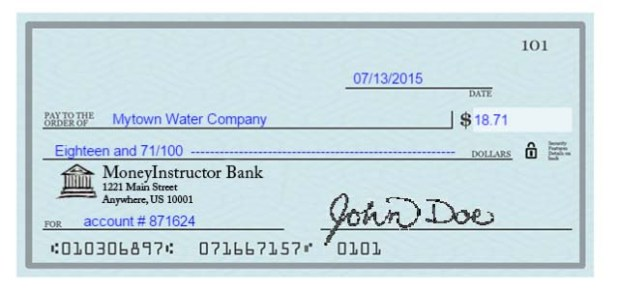 How to write a check out how to how to properly write a check basic step by instructions ccuart Images