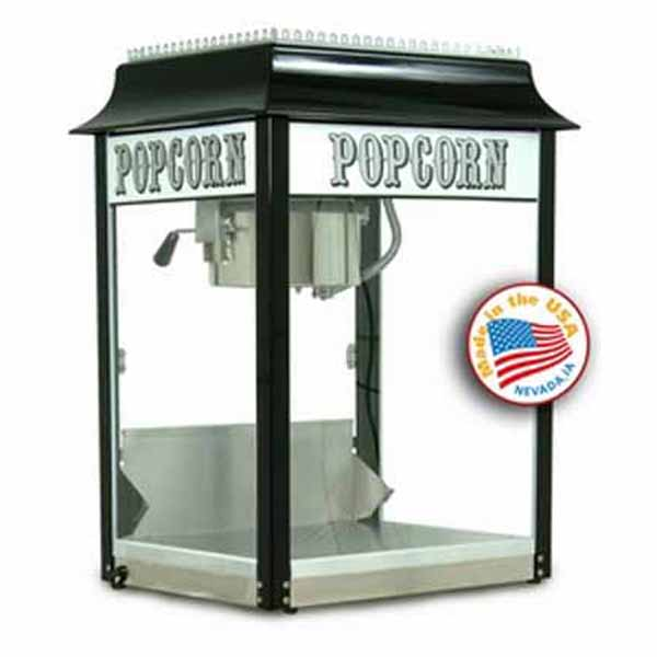 Black 1911 Old Fashion 4 Ounce Popcorn Machine | moneymachines.com