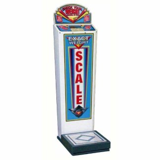 Coin Operated Body Weight Height Scales