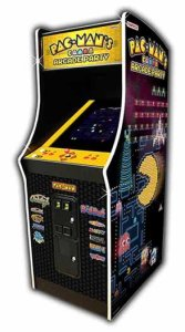 Pac-Man's Arcade Party Coin | Operated Upright Game Machine | moneymachines.com