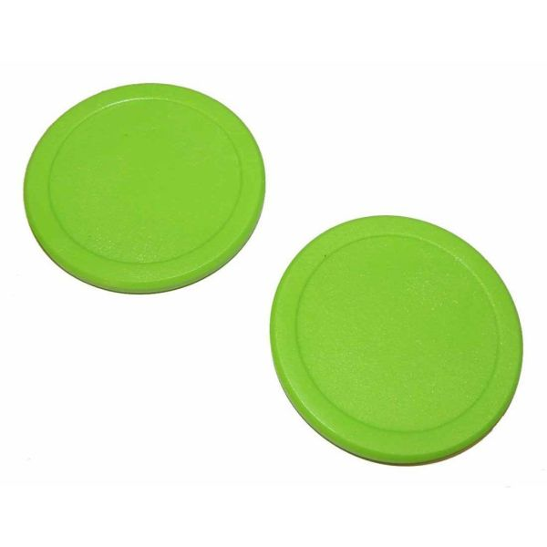 "2 2 1/2"" green Dynamo pucks | moneymachines.com"