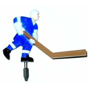 Individual Painted Blue Short Stick Bubble Hockey Man | moneymachines.com