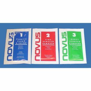 Combo Sample Size Kit of Novus 3, Novus 2 and Novus 1 Scratch Remover & Polish | moneymachines.com