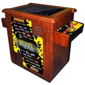 Pac-man's Pixel Bash Cocktail Wood Cabinet Arcade Game - Home Version | moneymachines.com
