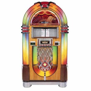 Rock-Ola Bubbler CD Jukebox | Walnut Finish | moneymachines.com