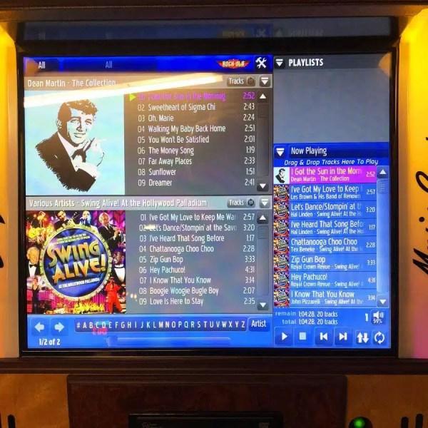 Rock-Ola Music Center Jukebox Selector Screen | moneymachines.com